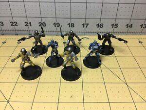 Star Wars Miniatures Lot Of 7 Mandalorian Figures: Commando, Scout - No Cards