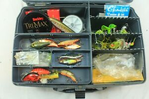 Huge Fishing Tackle Huge 20+ Lot Vintage and PLANO OVER AND UNDER Tackle Box
