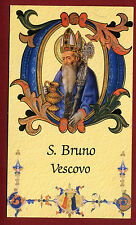 SANTINO  IMAGE PIEUSE - HOLY CARD- Heiligenbild  - S.BRUNO VESCOVO