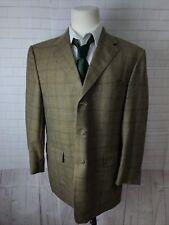 Hart Schaffner Marx Men's Brown Blazer Plaid Blazer 44R $1,080