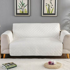 White_1 Seater Furniture Couch Slipcover Sofa Cover for Pets Cats