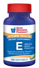 GNP Water Dispersible Vitamin E 400 IU Supplement 100 softgel