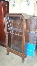 1930's Oak Art Deco Display Cabinet