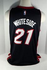 Men's Miami Heat Hassan Whiteside #21 Replica Black Swingman Jersey Adidas