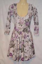 Topshop 3/4 Sleeve Floral Skater Dresses