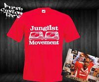 JUNGLIST / JUNGLE MOVEMENT UNISEX RAVE / FESTIVAL / HUMAN TRAFFIC T-SHIRT