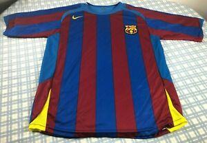 RARE Vintage 90s NIKE FCB FC BARCELONA SOCCER FUTBOL CLUB JERSEY MENS XL/L