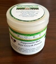 Peppermint Shea Hair Growth Pomade edge Alopecia Balding Thickening thinning
