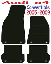Tailored Deluxe Quality Car Mats Audi A4 Cabriolet 2005-2008 * Black Convertible