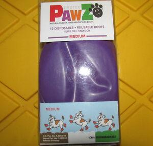 Pawz Water-Proof Dog Boot Set of 12, Large, Purple