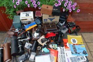 Job Lot Of Old Vintage Film Cameras, Video cameras,  Accessories Rolleiflex Manu