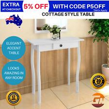 White Narrow Hallway Table Slim Entry Hall Thin Console Cottage Corner Furniture