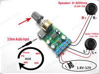 DC 1.8~12V 5v TDA2822M Mini Audio Power Amplifier Board 2.0 Stereo 3.5mm Module