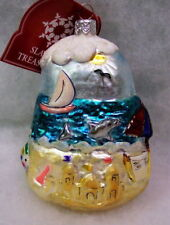Slavic Treasures Retired Glass Ornament- At The Beach / By The Seashore