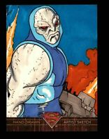 Superman: The Legend 2013 Cryptozoic DC Comics Sketch Card by Boo