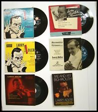 FOR SERIOUS COLLECTORS 1940's-60's FIVE (5) LARRY ADLER 45 RPM RECORDS AND BOOK
