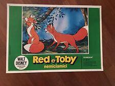 FOTOBUSTA, WALT DISNEY RED E TOBY NEMICIAMICI 1981  ANIMAZIONE