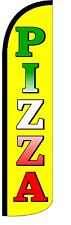 Pizza (Yellow) Windless Standard Size Polyester Swooper Flag Sign Banner