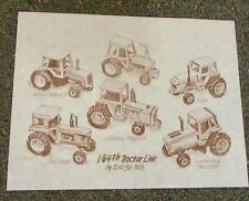 Ertl 1/64th Tractor Line Drawing / Print  1983