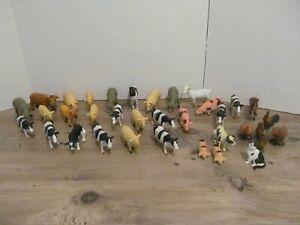 FARM ANIMAL BUNDLE / JOB LOT OF 35 PLASTIC FARM ANIMALS