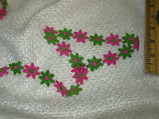 ~15 YDS~WRIGHTS~7/8 INCH ~FLOWERS APPLIQUE~EMBELLISHMENT TRIM ~FABRIC FOR LESS~