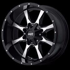 4 NEW Moto Metal 970 20x12 Gloss Black & Machined Wheels -44 offset 8x6.5 Dodge