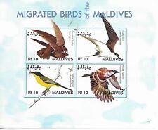 Maldives ,  BIRDS  Mini Sheet  MINT NH