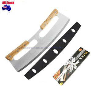 Premium Stainless Steel Pizza Cutter Rocker Blade Slicer 35CM +Protective Cover