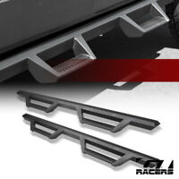 For 2015-2020 F150/2017+ F250 Super Matte Black Hoop Drop Step Side Nerf Bars v2