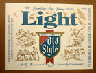 OLD USA BEER LABEL, HEILEMAN BREWING Co LA CROSSE WISCONSIN, OLD STYLE LIGHT