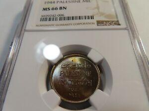 M67 Palestine 1944 Mil NGC MS-66 Brown