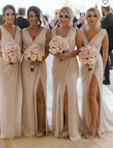 Champagne Bridesmaid dress in size 10 (New) Never Worn