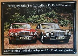 1974 JAGUAR DAIMLER air conditioning car brochure. UK catalogue / prospekt RARE!