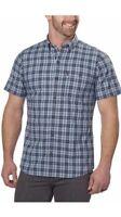 G.H. Bass & Co. Men's Short Sleeve Woven Shirt, Mood Indigo, Size L, NWT