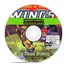 Wings Comics, Fiction House, 124 Issues, Vintage Golden Age Comics PDF DVD C75