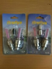 FIREFLYS LED BIKE/CYCLE/CAR/MOTORCYCLE SAFETY WHEEL VALVE IN DIFFERENT COLOURS