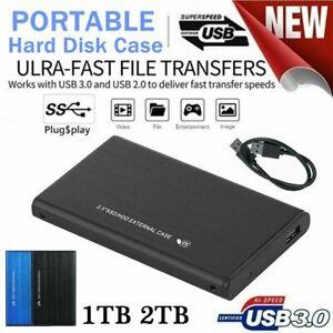 Externe Festplatte Tragbare 2TB 1TB USB 3.0 SATA HDD Memory Drive für PC Laptop
