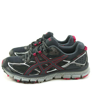 Asics T6K7N Gel Scram 3 Womens Shoes Size 9 Trail Running Pink Gray Camo Lace Up