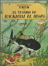Tintin. Rackham le Rouge. En espagnol. Juventud 1965 cartonné dos toilé vert