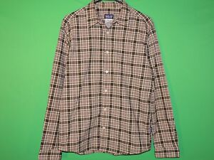 Patagonia Men's Size S Small Plaid Long Slv Button Front Shirt
