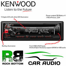 Kenwood Car CD MP3 USB AUX In RED Key Display Stereo Radio Tuner RDS Player