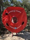 """Lone Star Beer 48"""" Inflatable Texas Float Very Rare Round Red"""