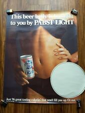 This Beer Belly Is Brought To You By Pabst Light Vintage Ad Poster Man Cave 1984