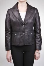 Abrigos y chaquetas de mujer blazer de piel color principal negro