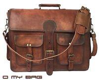 Large Vintage Leather Briefcase Men's Handcrafted Messenger Satchel Laptop S Bag