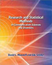Research and Statistical Methods in Communication Sciences and Disorders by Davi