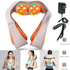 Electric Shoulder Massager Neck Back Body Heat Massage Shiatsu Kneading Shawl