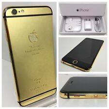 Custom Gold plated iPhone 6s - 64GB - 24k & crystals (GSM Unlocked) w/box