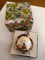 1975 5th Wallace Silverplated Christmas Sleigh Bell Ornament Sprightly Elves  3""