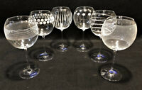 Set Of 6 Mikasa Balloon Glasses – 4 Cheers Too & 2 Cheers Pattern - 24.5 Oz